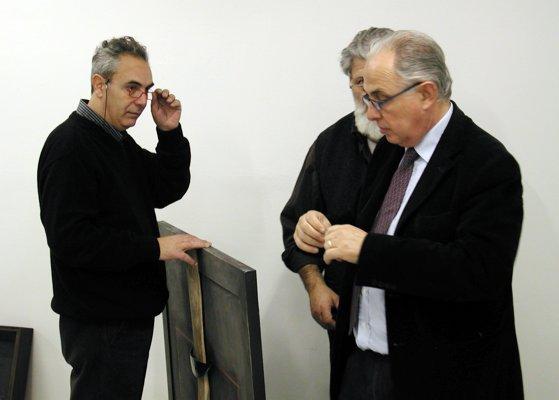 Durante l'allestimento: Antonio Pizzolante, Stefano Soddu, Max Marra