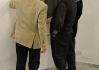 durante l'allestimento: Claudio Rizzi, Max Marra, Stefano Soddu