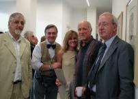 Vernissage: Manlio Onorato, Orazio Bacci, Roberto Vecchione (secondo da destra)