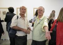 Vernissage: Enrico Cattaneo (a destra)