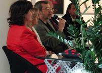 Gabriella Brembati, Cristina Rossi e Roberto Mutti (foto G.R.)