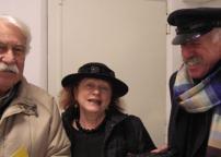 Evelina Shatz con un amico e Gualtiero Monchienni