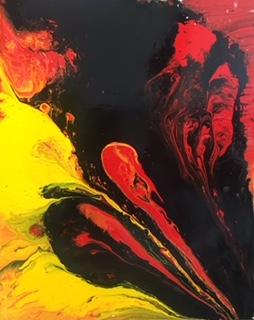 In  giallo e in nero, smalto, cm 100x80